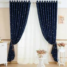 Blackout Drapery Fabric Printed Star Curtain Fabric Star Print Purple Fabric For Blackout