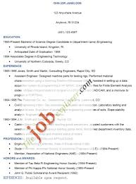 Resume Examples For Jobs Format Of A Resume For Applying A Job Cbshow Co