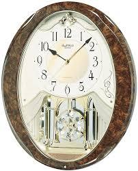 Wall Watch by Rhyhtm Joyful Snowflake Muscial Motion Wall Clock 4mj899wd23