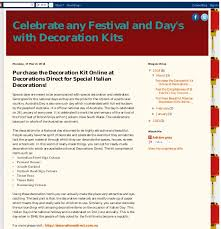 purchase the decoration kit at decorations direct for special