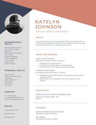 resume with photo template customize 734 modern resume templates canva
