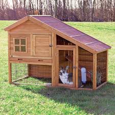 Sale Rabbit Hutches Trixie 2 Story Rabbit Hutch With Attic Extra Large Hayneedle