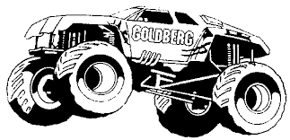 monster trucks coloring page free download