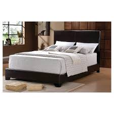 Faux Bed Frames Archer Faux Leather Bed Frame Black Home Source