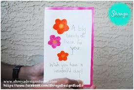tutorial how to make a seven flower pop up card shreya design