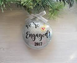 we re engaged ornament engagement ornament wedding