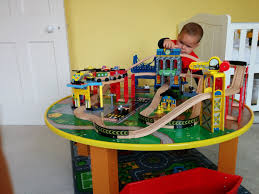 kidkraft city explorer u0027s 90 piece train set and table loved by