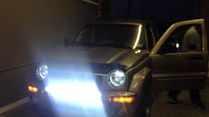jeep liberty light bar auto impressions led bar jeep liberty installed hids to youtube