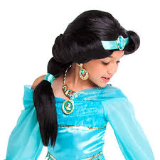 jasmine halloween costume adults amazon com disney store princess jasmine costume wig girls