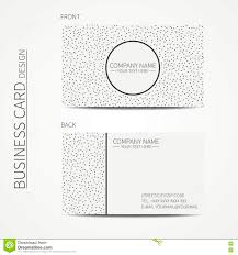 vector simple business card design template black and white
