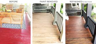 diy remove paint refinish front porch wood flooring before