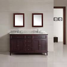 Bathrooms With Double Vanities Shop Ove Decors Dustin Tobacco Undermount Double Sink Bathroom