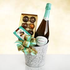 wine and chocolate gift basket sparkling wine and chocolate elegance gift basket hayneedle