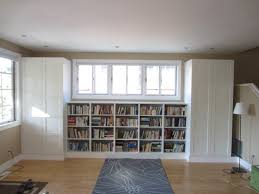 How To Install Laminate Flooring On Ceiling Wall Units Amusing Premade Built In Bookshelves Premade Built In