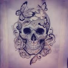 Girly Tattoo Sleeve Ideas Best 25 Girly Skull Tattoos Ideas On Pinterest Evil Skull