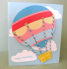 homemade air balloon greeting cards ideas birthday pop up