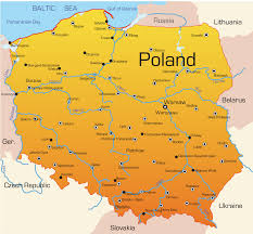 Poland Map Flag Poland Map With Cities Blank Outline Map Of Poland