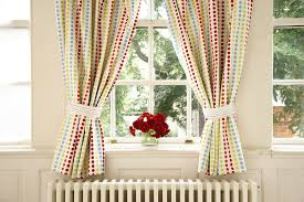 Nursery Blackout Curtains Uk by The Gro Company Jolly Day Out Curtains And Tiebacks Amazon Co Uk
