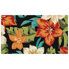 Hawaiian Area Rugs by E104 Tropical Floral Indoor Outdoor Rug 3x5 Ft At Home At Home