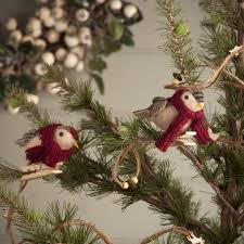 tartan bird tree decoration by the home