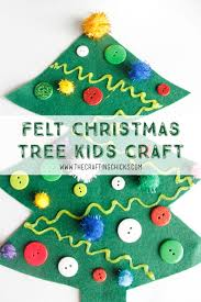 felt christmas tree kids craft the crafting