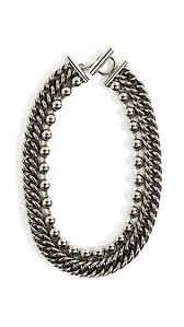 ball chain necklace images Alexander wang ball chain curb chain necklace shopbop jpg