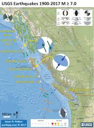 Oregon Earthquake Map by Earthquake Report Explorer Plate Jay Patton Online
