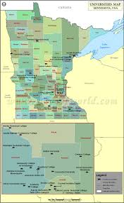Minnesota Topographic Map List Of Universities In Minnesota Map Of Minnesota Colleges And