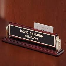 Personalized Desk Name Plates Desk Wedge Name Plates