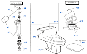 American Standard Faucet Parts Canada American Standard Toilet Repair Parts For Lexington Series Toilets