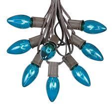 c9 brown wire light string sets novelty lights inc