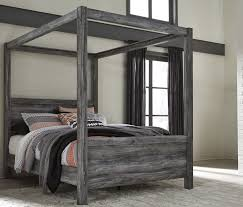 baystorm gray canopy bedroom set from ashley coleman furniture