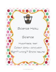 science haiku tpt science lessons pinterest