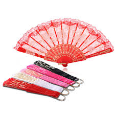folding fans vintage floral print lace folding fans fan party