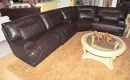 Macys Ricardo Brown Leather Power Reclining Sectional Sofa - Ricardo leather reclining sofa