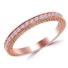 pink wedding rings pink diamond vintage style wedding ring 14k gold band