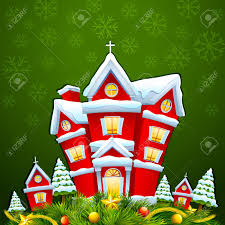 decorated house for merry christmas royalty free cliparts vectors