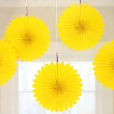 paper fan circle decorations 5 yellow tissue paper fan decorations paper fan decorations and