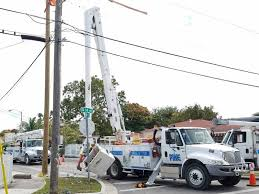 fpl street light program pike electric worker survives being jolted with electricity miami