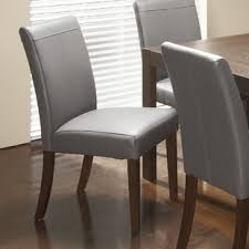 Dining Leather Chair Genuine Leather Kitchen Dining Chairs You Ll Wayfair
