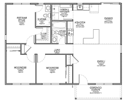 Floor Plan Of Two Bedroom House by Home Design 2 Bedroom House Simple Plan Floor Plans Image For 79