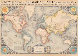 Map Of World Oceans by Whimsical Map Depicts All Undersea Telecommunication Cables