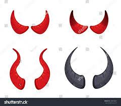 halloween scrolls background vector illustration red black devil horns stock vector 485830081