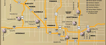 Florida Spring Training Map by Mlb Spring Training Stadium Map Cactus League Road Dog Tours