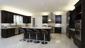 black kitchen walls brown cabinets interior design