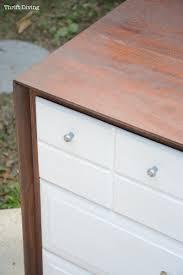 a mid century modern dresser makeover