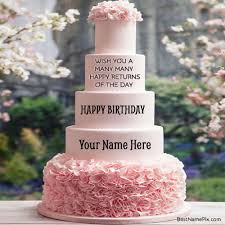 Happy Birthday Wishes To Big Write Your Name On Big Birthday Wishes Cake Picture