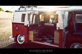 van volkswagen hippie stance works slammed lego volkswagen bus