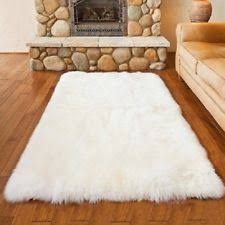 Sheepskin Area Rugs Faux Fur Rugs Ebay