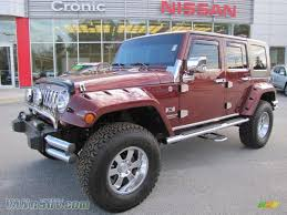 jeep unlimited red 2008 jeep wrangler unlimited x 4x4 in red rock crystal pearl